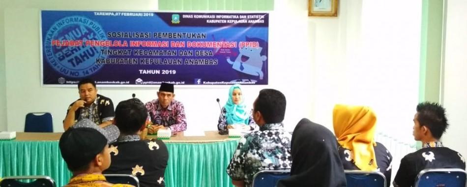 Tingkatkan Keterbukaan Informasi Publik , PPID Anambas Gelar Sosialisasi Tingkat Kecamatan Dan Desa